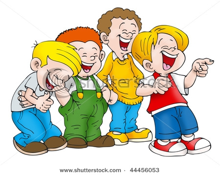 Laughing Student Clipart.