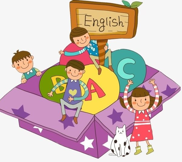 Learning English, Cartoon, Hand Painted, Child Png Image And Clipart.