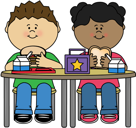 Kids Eating Lunch Clipart , Transparent Cartoon.