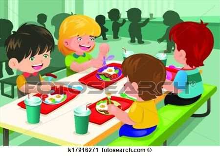 preschool lunchtime clipart.