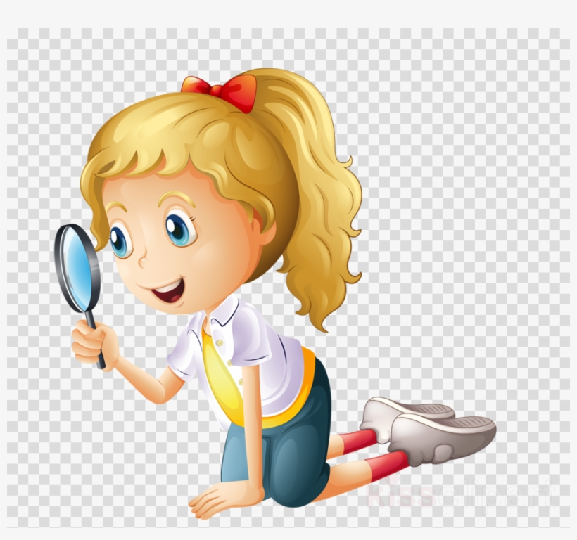 Child With Magnifying Glass Png Clipart Magnifying.