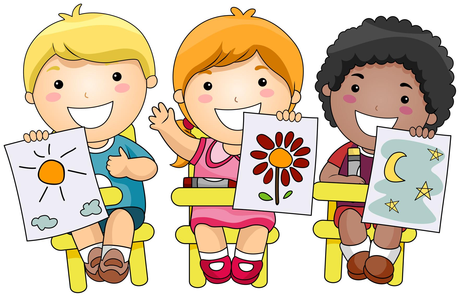 Kids Making Crafts Clipart (59+).