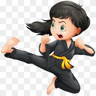 Girl Clipart Martial Arts.