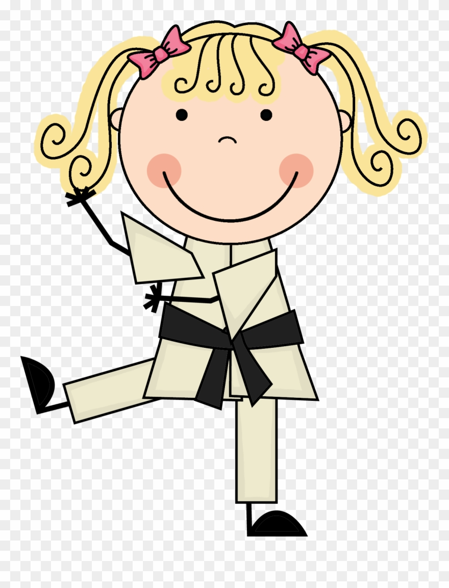 Korean Clipart Kid Martial Art.