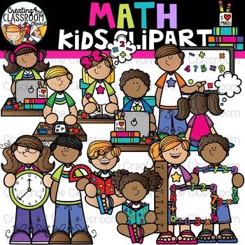 Math Kids Clipart {Math Clipart}.
