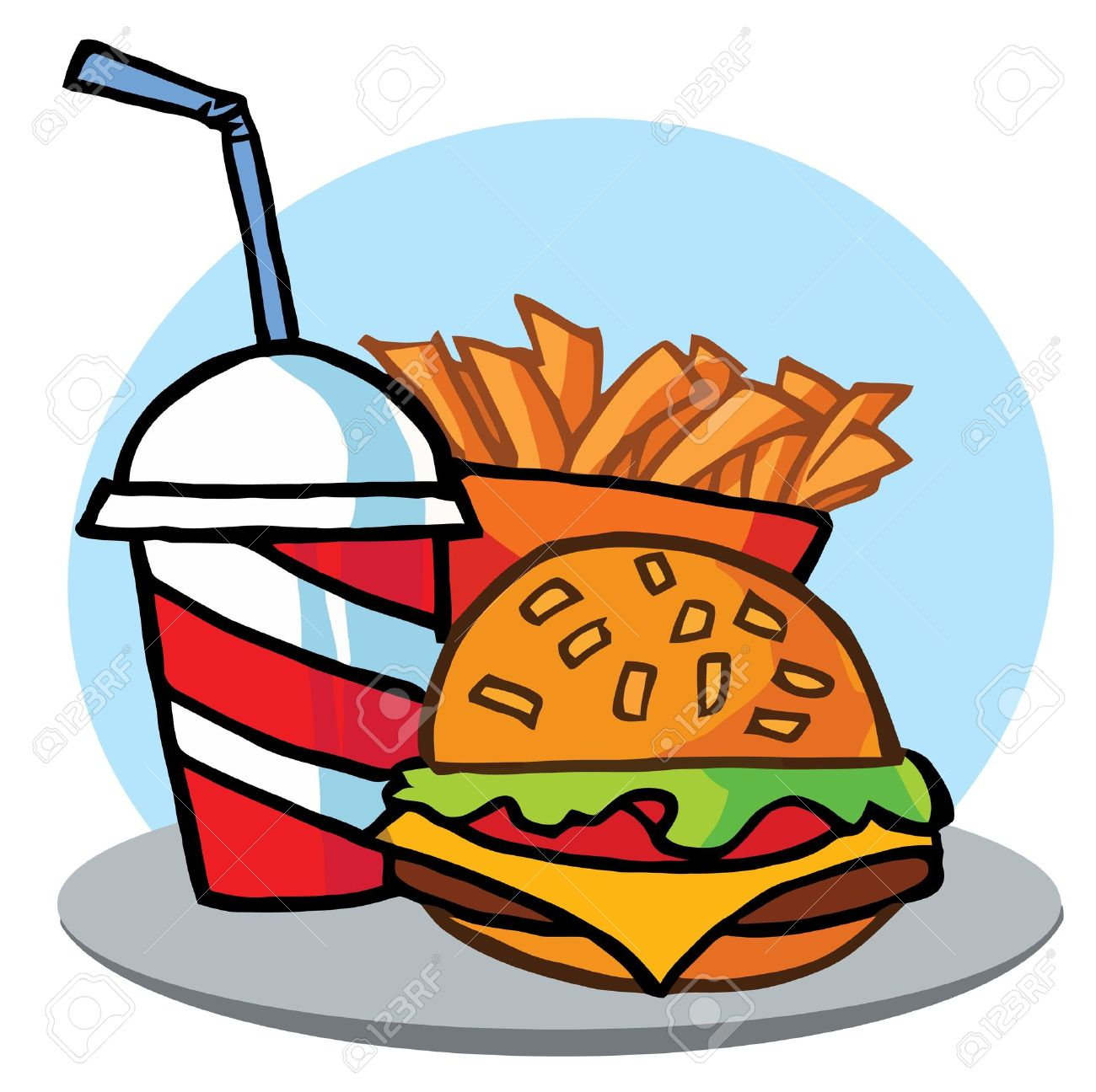 Unhealthy Food Clipart For Kids.