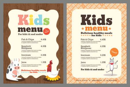 9,316 Kids Menu Stock Vector Illustration And Royalty Free Kids Menu.