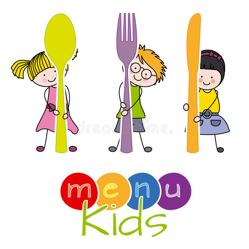 Menu Kids Stock Illustrations.
