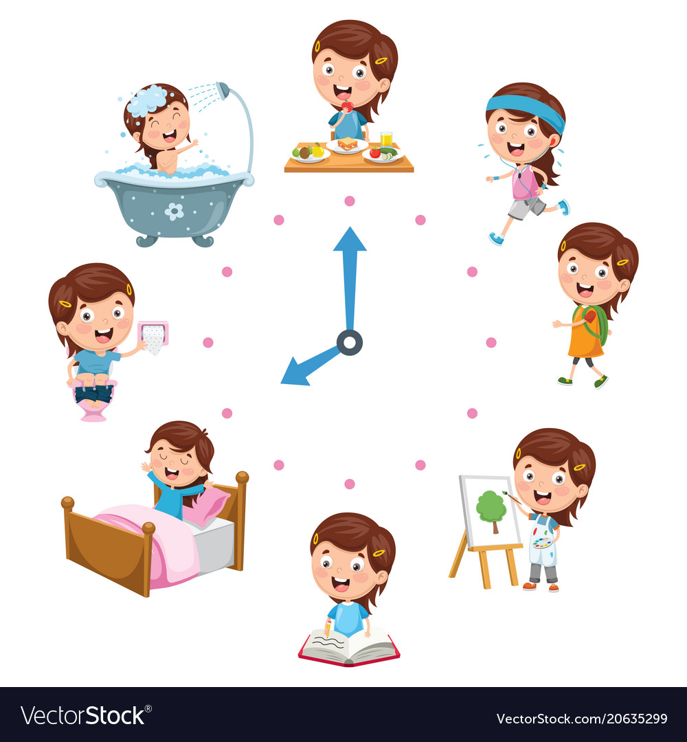 Kids daily routine activities.
