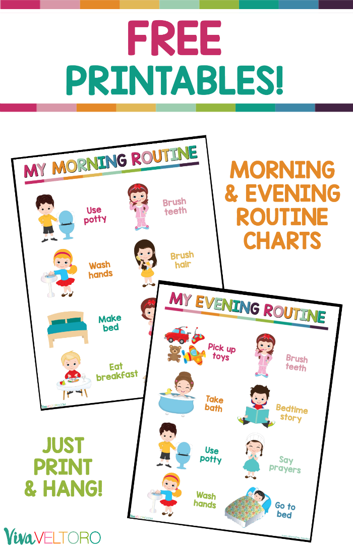 These daily routine charts for kids are perfect for toddlers.