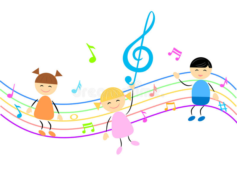 Kids Music Stock Illustrations.