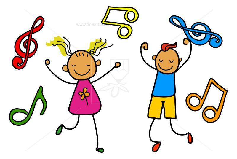 Music kids illustration.
