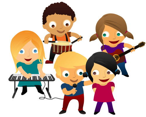 Free Kids Music Clipart Image.
