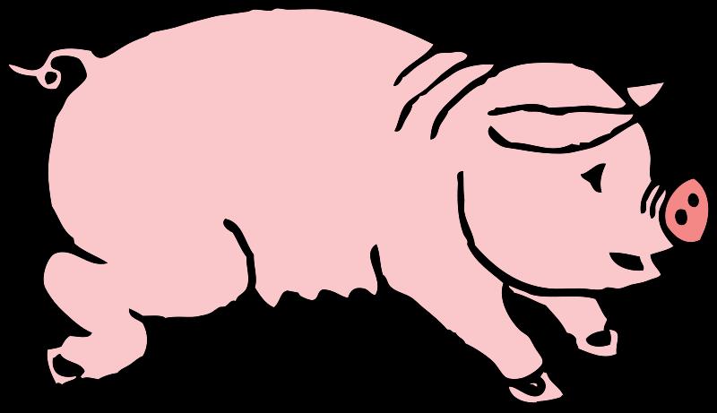 Clip Art Smiling Pig Clipart.