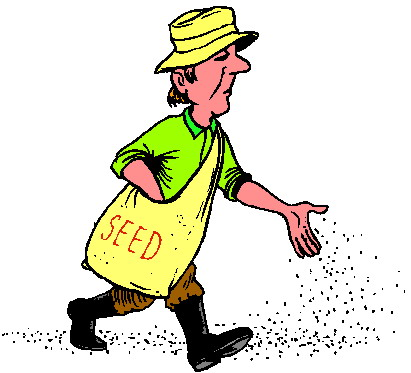 Sow seeds clipart.