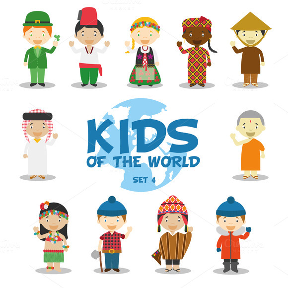 Kids of the world: Set 4.