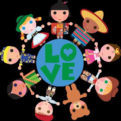 Children of the World on a Love Globe.