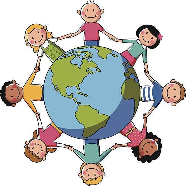 kids of the world holding hands clipart #7