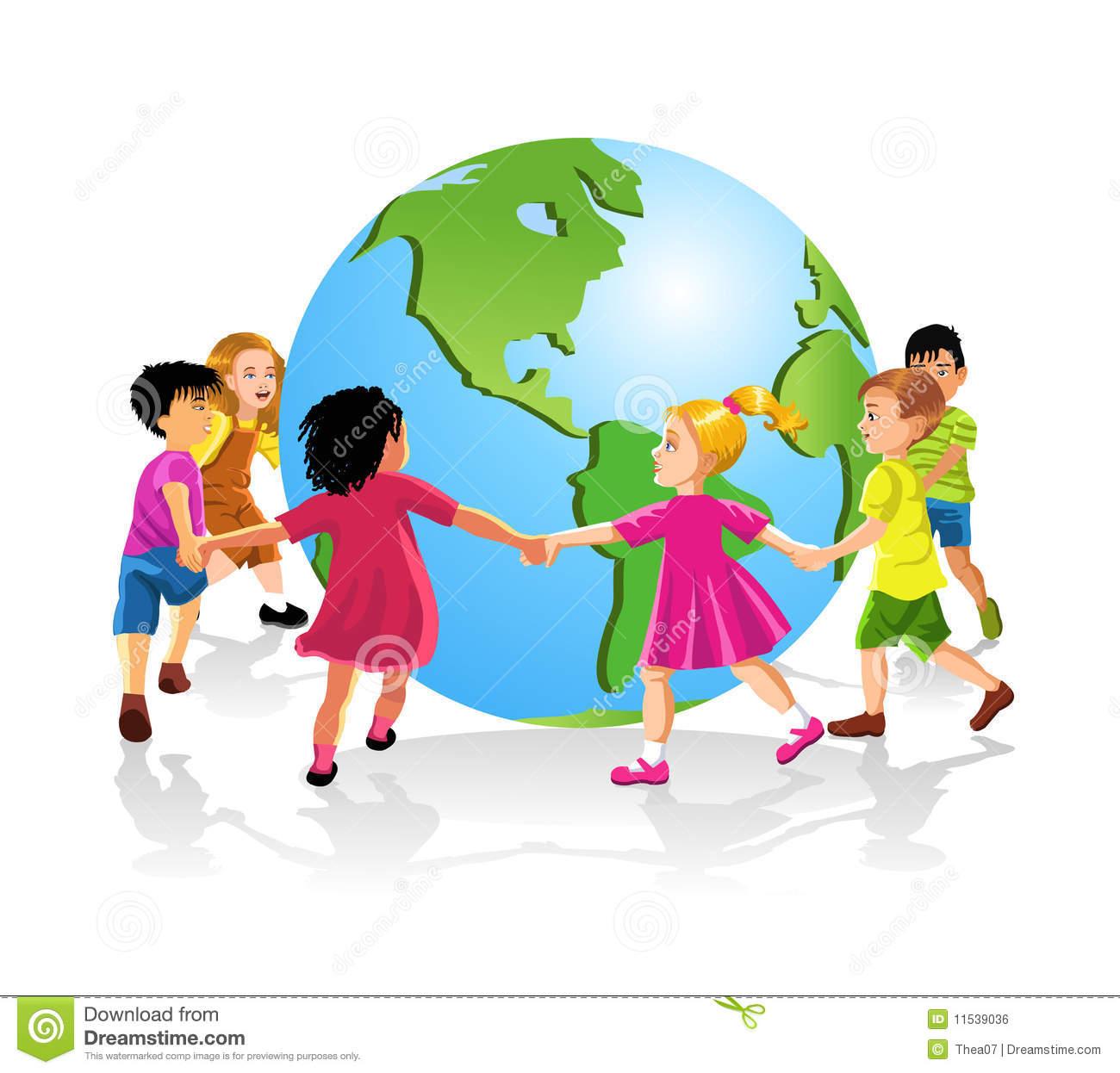 Children Around The World Stock Images.