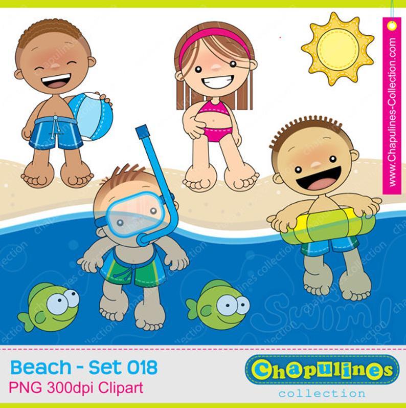 60% off Beach clipart kids.