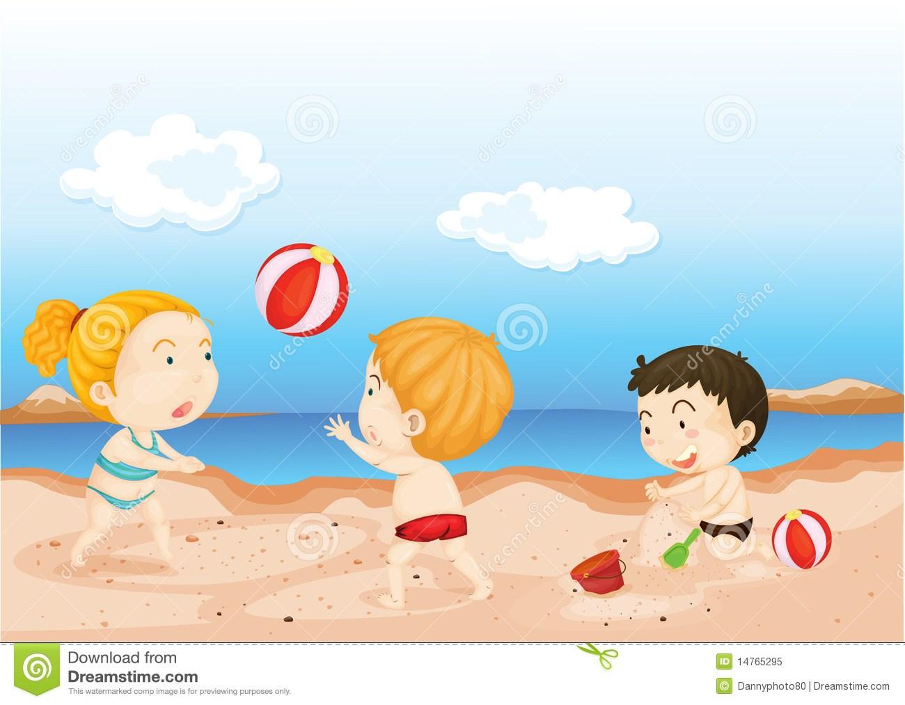 Kids on beach clipart 2 » Clipart Portal.