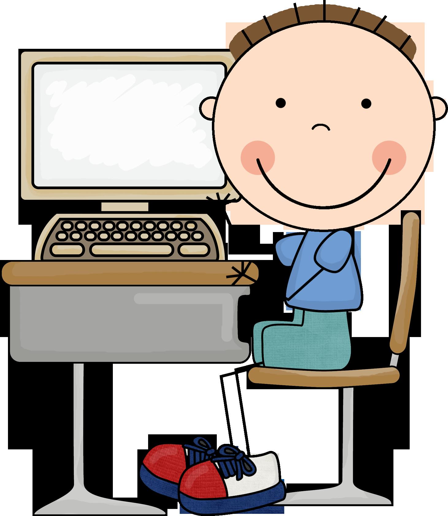 Computer Clipart Kids.