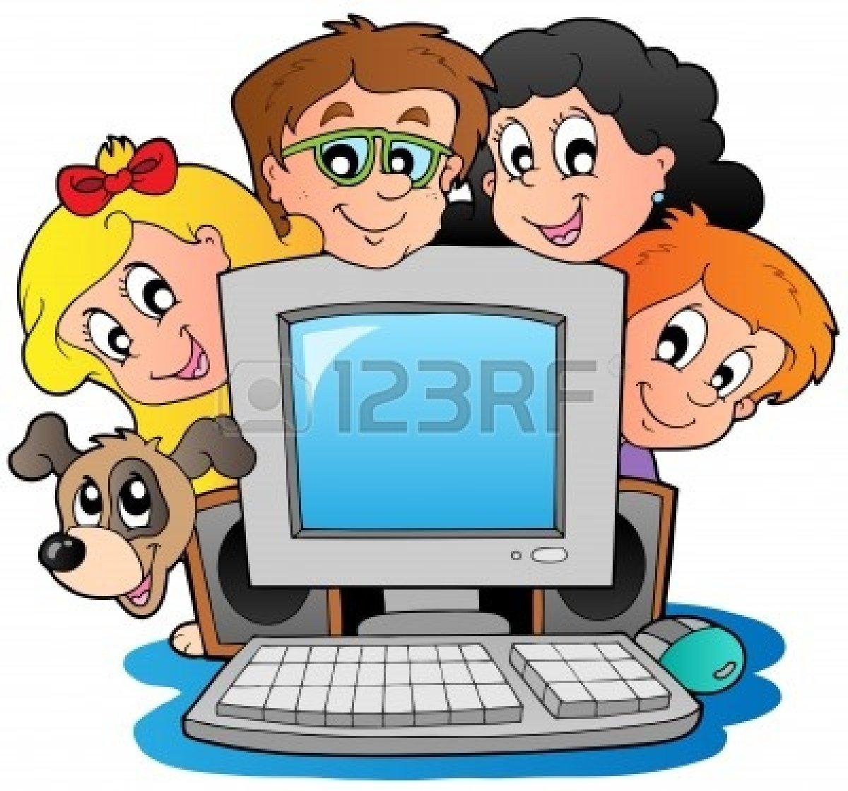 Kids Computer Clipart.