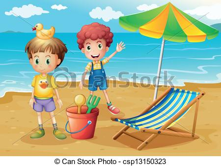 Kids On The Beach Clipart Clipground
