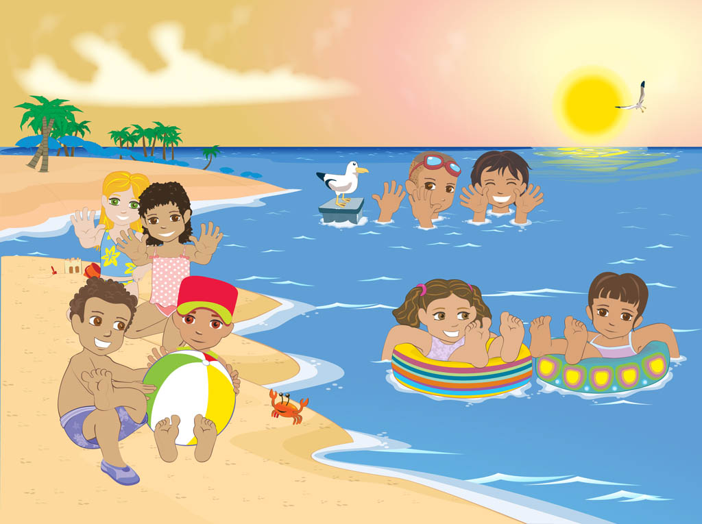 Kids on the beach clipart 20 free Cliparts | Download ...