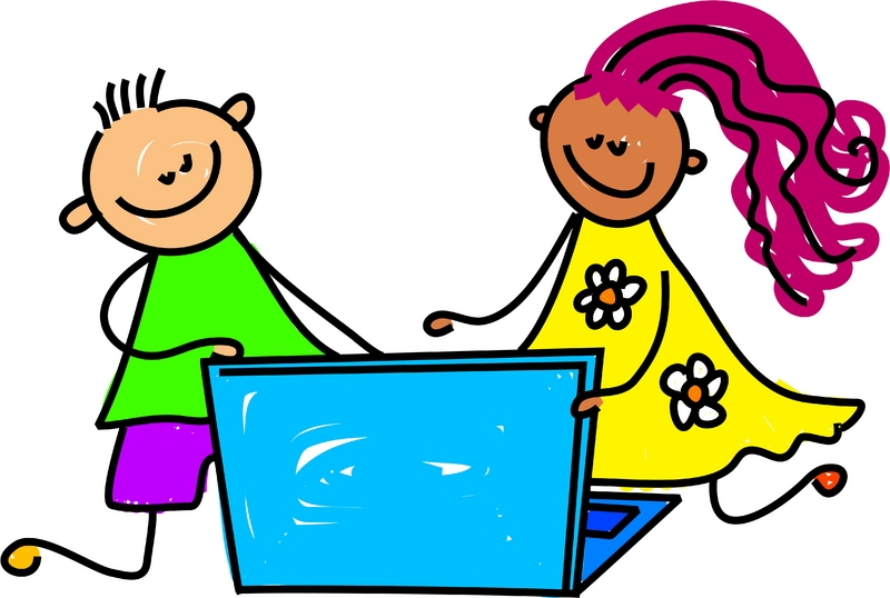 Free Kids At Computer, Download Free Clip Art, Free Clip Art.