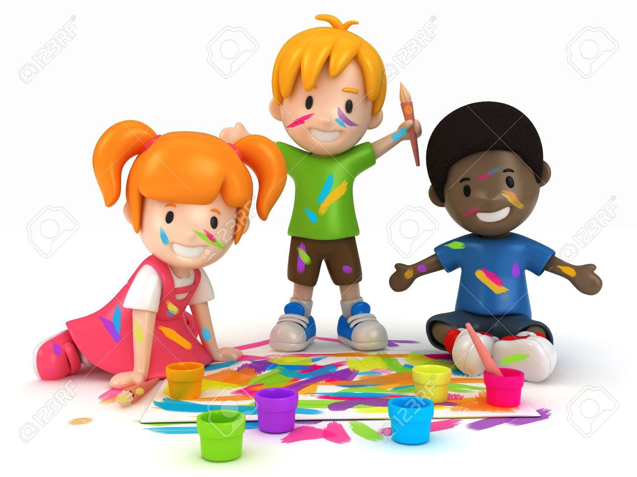 Kids painting clipart » Clipart Station.