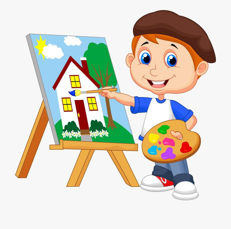 Paint Clipart Boy.