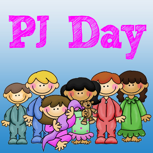 Kids Pajama Day Clipart.