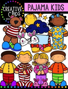 Pajama Kids {Creative Clips Digital Clipart} in 2019.