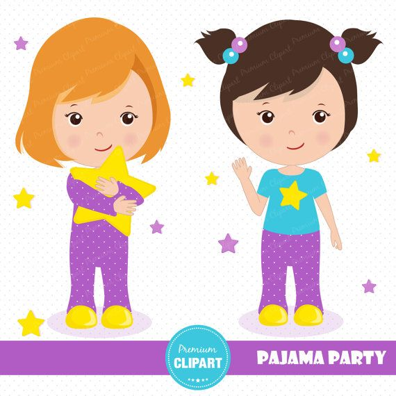 70% OFF SALE Sleepover party clipart Pajama by.