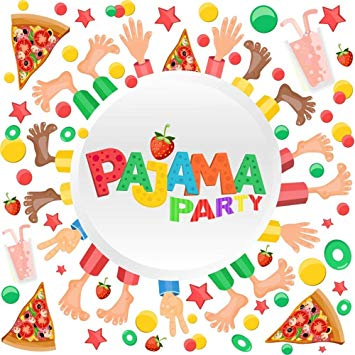 OFILA Pajama Party Backdrop 8x8ft Slumber Party Photography Background  Children Sleepover Party Kids Pillow Fights Events Leisure Activities  Holidays.