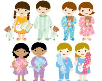 Kids in pajamas clipart 4 » Clipart Portal.