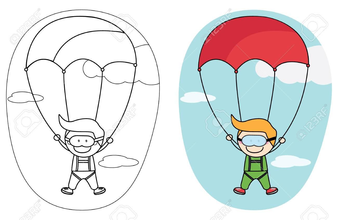 Kids parachute boy.