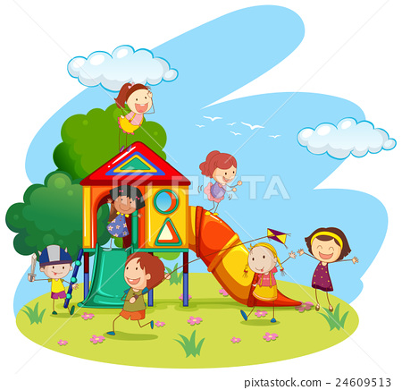 Kids Park Clipart.