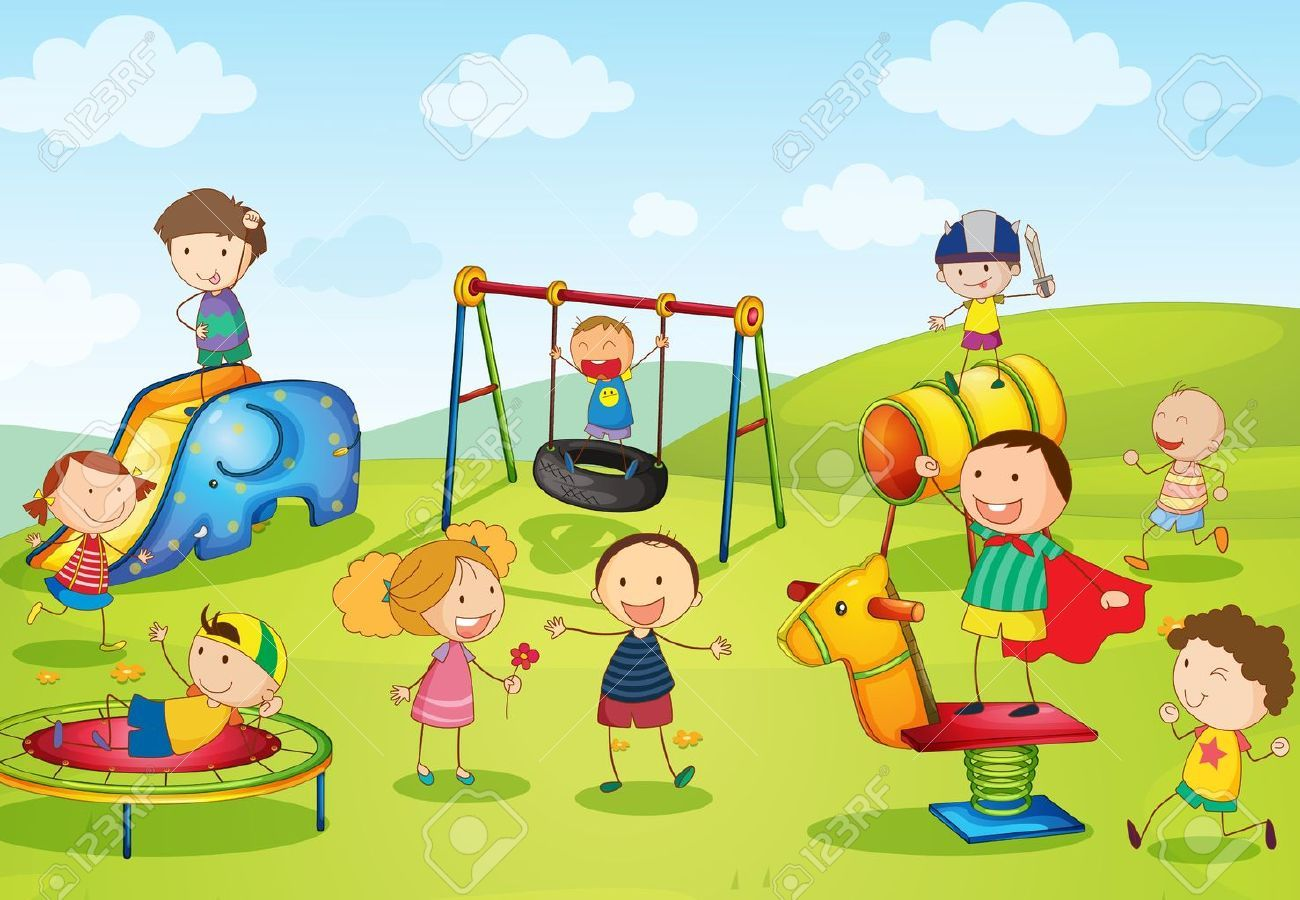 Kids playing in the park clipart 9 » Clipart Portal.