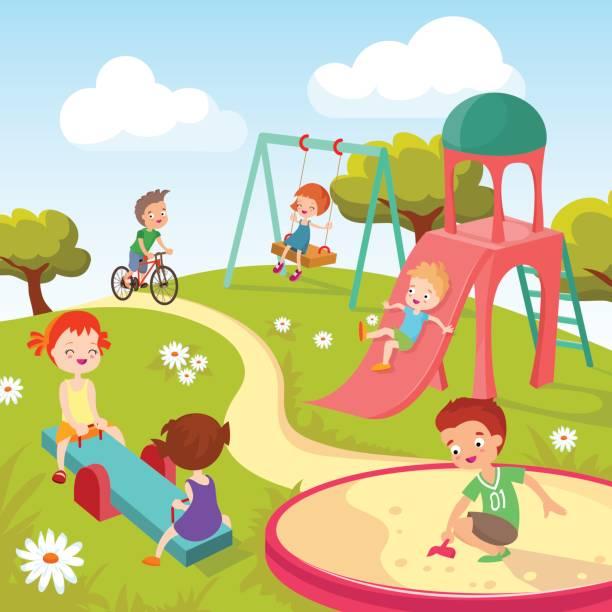 Best Kids Park Illustrations, Royalty.