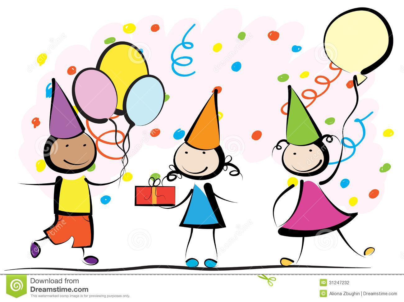 Kids birthday party clip art Best of Kids Birthday Party Clip Art.