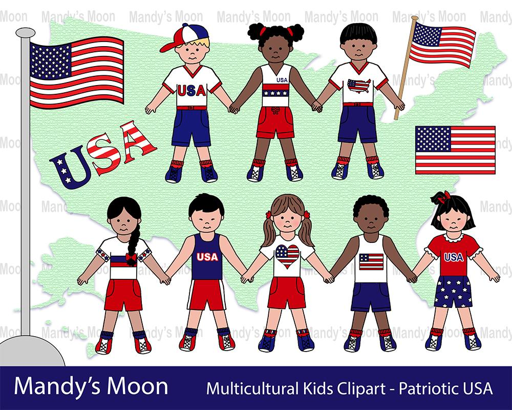 Multicultural Kids Clipart.
