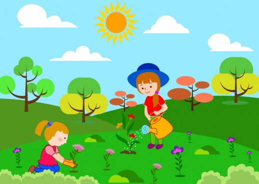 Planting flowers free vector download (12,339 Free vector.
