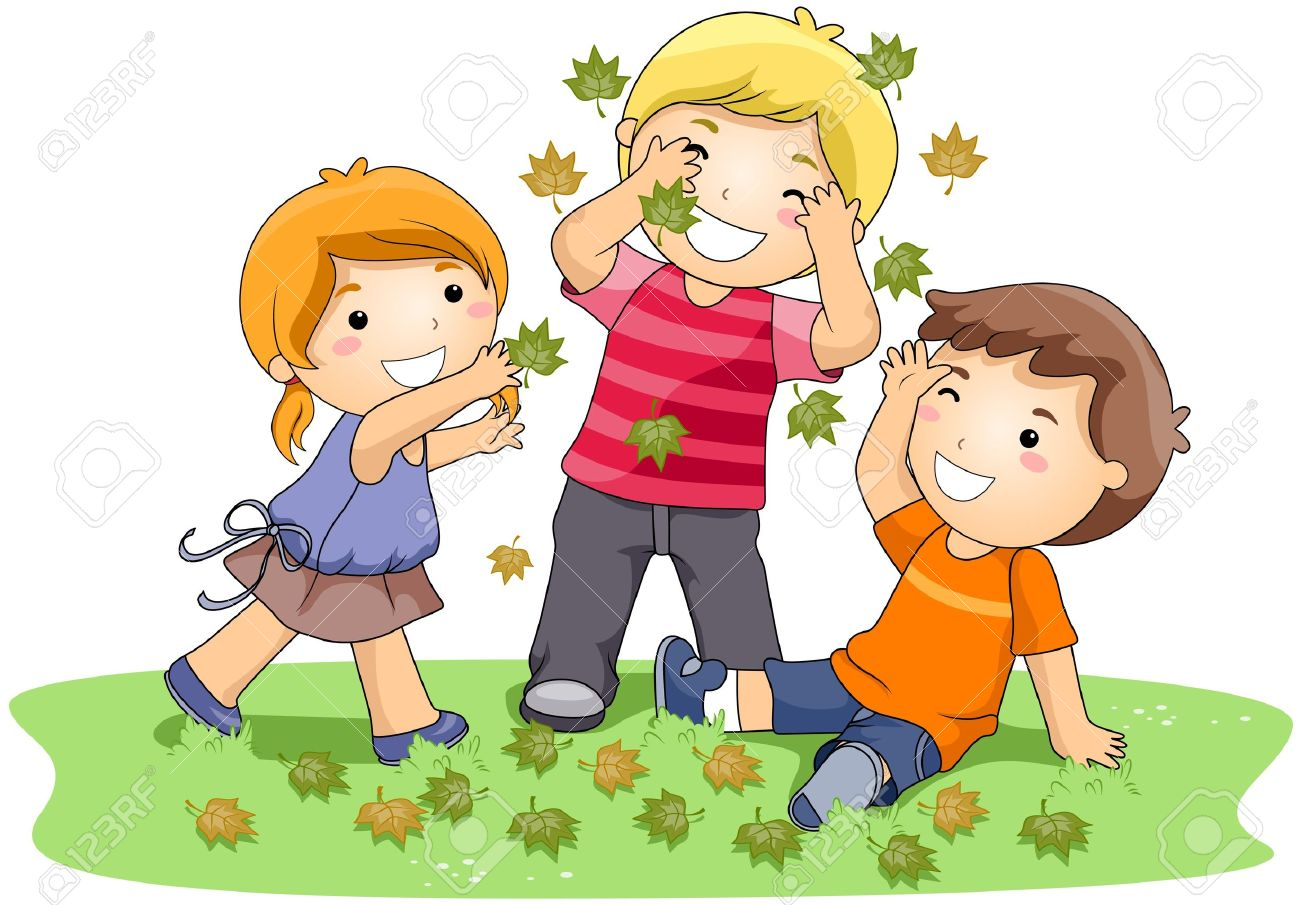 Clip art of kids playing.