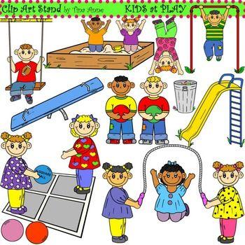 Clip Art Kids at Play Combo.