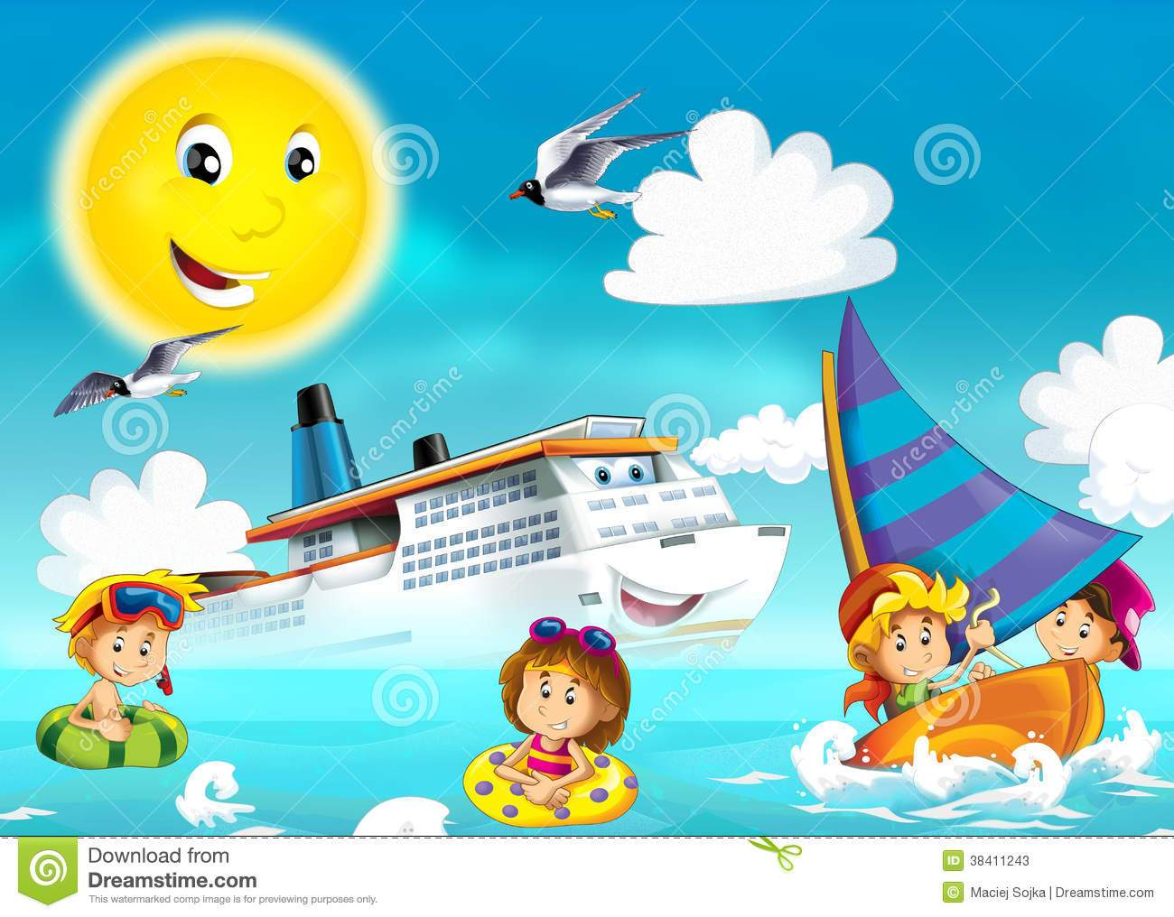 Children playing at the beach clipart 8 » Clipart Portal.