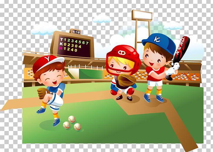 Baseball Field Cartoon Child PNG, Clipart, Baseball Player, Baseball.