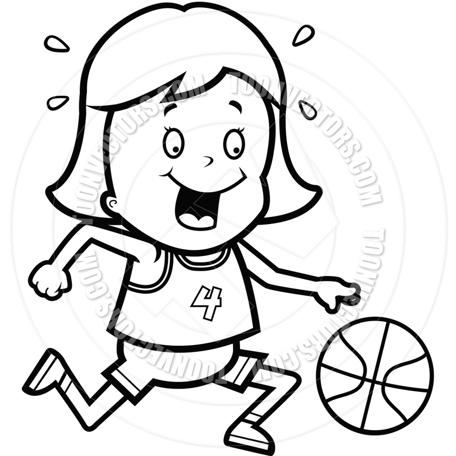 Child Playing Basketball Clipart (61+).