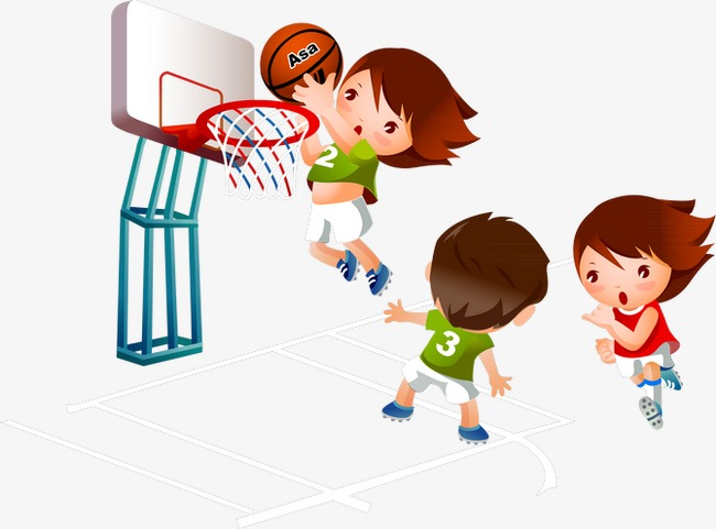 Kids playing basketball clipart 7 » Clipart Station.